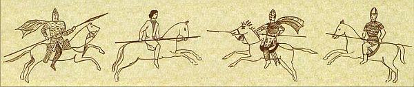 Алано-сарматские всадники, росписи в катакомбах Керчи