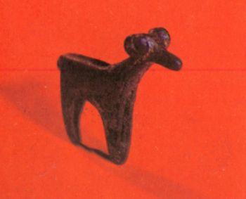 Скульптурная фигурка барана. Первое тыс. до н. э. </p><p> Бронза, литье. Высота 4,5 см. Найден у </p><p> сел. Заманкул СОАССР.</p><p> The figure of a ram First millennium В. С. </p><p> Bronze, casting. 4,5 cm. high Found in the </p><p> village of Zamankul, North Ossetia</p><p>