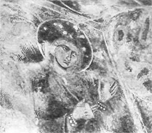 Фрагмент фресковой росписи <br>Нузальской часовни
