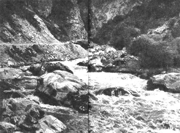 Ущелье реки Ардон. Военно-Осетинская дорога
