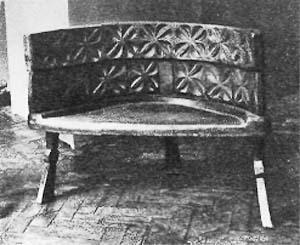 Кресло, украшенное резьбой. <br>Северо-Осетинский музей краеведения
