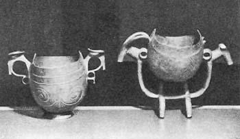 Осетинские пивные чаши из дерева. <br>Северо-Осетинский музей краеведения