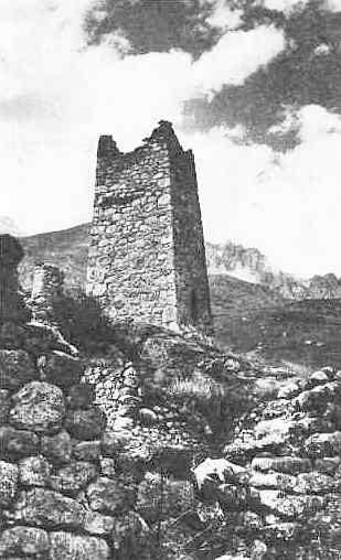 Селение Цимити. <br>Петроглиф на башне Талхановых
