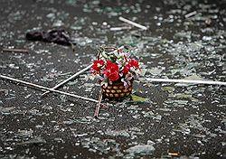 Вчера на месте взрыва во Владикавказе </p><p> поминали погибших